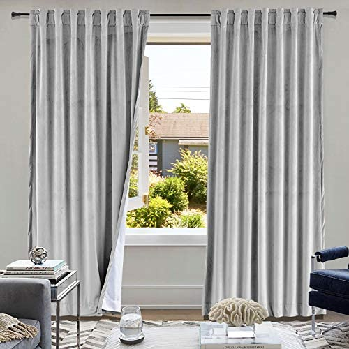 cololeaf Living Room Blackout Velvet Curtain