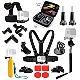 Essential Accessories Bundle Kit with case for GoPro Hero5 Black Hero 4 Xiaomi Yi DBPOWER Lightdow Gitup git2 Sports Camera Accessories Set in Outdoors