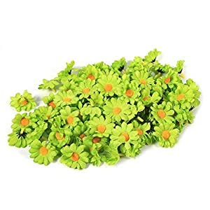 Zerodis Flower Heads Artificial Daisy Flower Heads 11 Colors Fabric Flower Head for Wedding Party DIY Home Decoration, Pack of 100 46