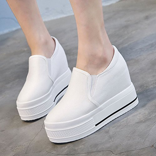 10 Tide Women'S Shoes KHSKX Shoes Increased High Shoes Cm Heels Sail Set Soles Shoes Thick Leisure White Korean Foot Cm White 7w5UqFw