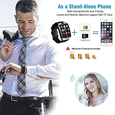 Smart Watch,Android Smartwatch Smart Watches for Android 2018 Bluetooth Smart Watch Touchscreen With Camera, Smart Wrist Watch Cell Phone With Sim Card Slot Compatible IOS Android for Men Women Youth