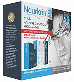 Nourkrin Man 180 tablets includes Nourkrin Shampoo and Conditioner