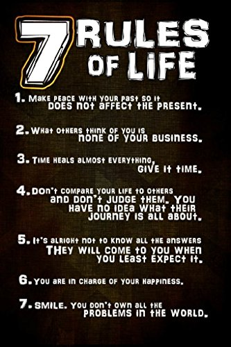 7 Rules of Life Poster | 18-Inches By 12-Inches | JSC114