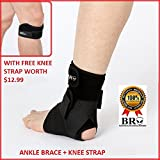 BRO ANKLE SUPPORT: 3 Point Compression,ANKLE BRACE for Sprained ankle,Swollen ankles,Tendinitis,Ankle Pain,Basketball,Running,Sports,Breathable Neoprene,Black,Adults-One Size-FREE $12.99 PATELLA STRAP