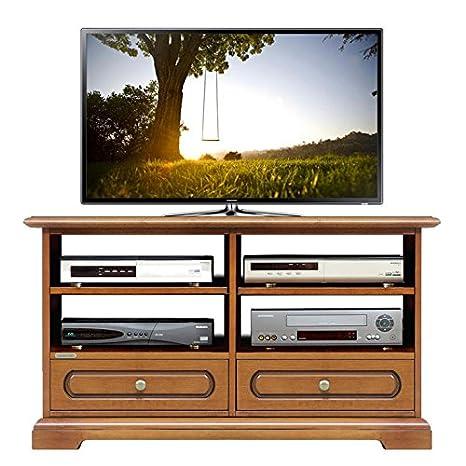 Mobile porta tv basso, mobile per tv stile classico tinta ciliegio ...