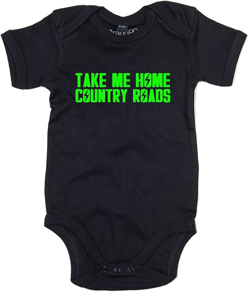 Take Me Home, Baby Grow - Black 0-3 Months