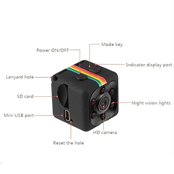 DOJA Barcelona | Mini Camara espia + SD 16gb Incluida | Una de Las Mini Camaras de vigilancia Ocultas mas pequeñas con Detector de Movimiento, ...