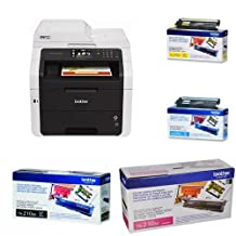 Brother MFC9330CDW Wireless All-In-One Color Laser Printer with ScannerCopier and Fax + Black/Yellow/Magenta/Cyan Toner