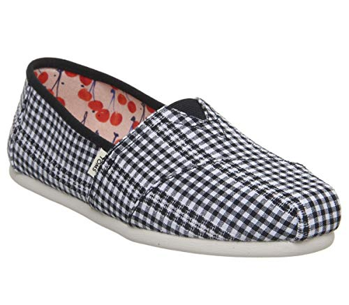 - TOMS Women's Alpargata Espadrille, Size: 5 B(M) US, Color: Black Gingham Stripe