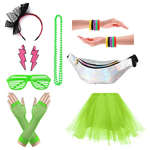 80s Tutu Outfit - CSG Women's 80s Outfit Accessories Neon