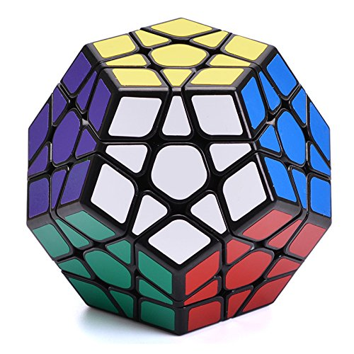 Magic Cube Abnormal Speed Puzzle Cube, Maggie Black Magic Cube with Sticker Storage Set Smooth Puzzles Bundle Toy