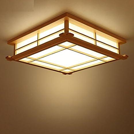 Malovecf Lámparas de estilo japonés con tatami 35 cm Madera ...