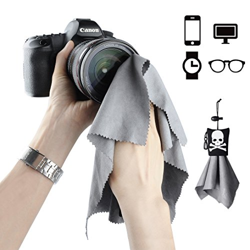Eyeglasses Cleaning Cloth with Storage Pouch-9.8x9.8