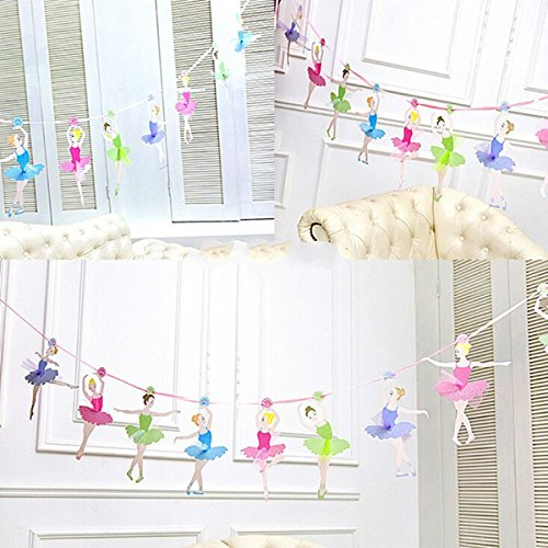 OKOKMALL US--Ballet Girls Letter Paper Garlands Flag Banner Party Birthday Wedding Decoration from OKOKMALL US