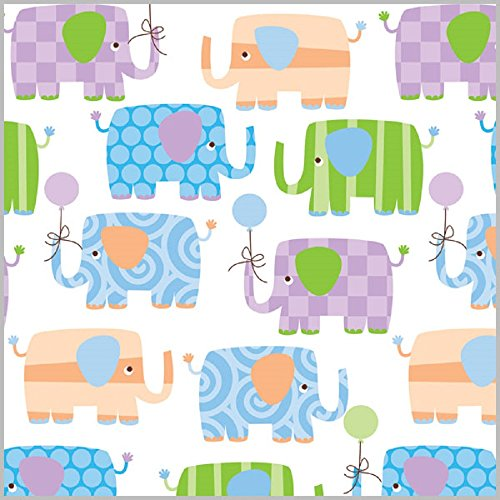 Elephant Parade Baby Shower Rolled Gift Wrap Paper - 24