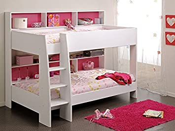 Etagenbett Für Mädchen : Etagenbett tamina weiß cm pink blau bett hochbett