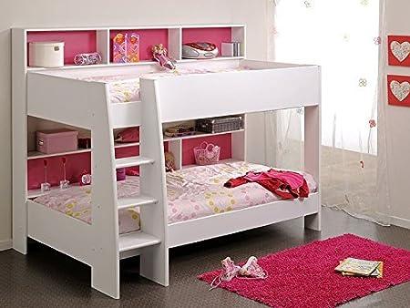 Etagenbett Zubehör Mädchen : Etagenbett tamina weiß cm pink blau bett hochbett