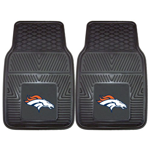 FANMATS NFL Denver Broncos Vinyl Heavy Duty Car Mat