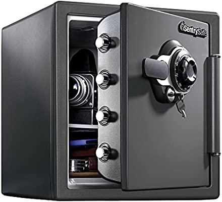 Sentrysafe Sfw123dsb Fireproof Safe And Waterproof Safe With Dial
