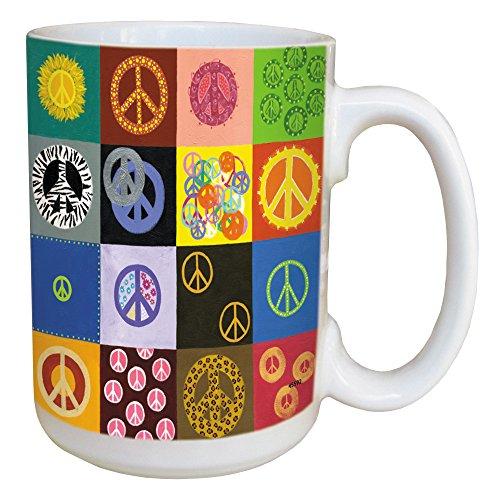 Tree-Free Greetings 45592 Suzan Waldinger Peace Is Everywhere Ceramic Mug with Full-Sized Handle, 15-Ounce
