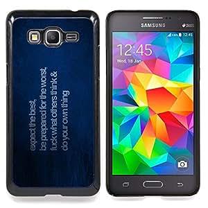 "Qstar Arte & diseño plástico duro Fundas Cover Cubre Hard Case Cover para Samsung Galaxy Grand Prime G530H / DS (Esperamos lo mejor"")"