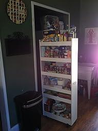 Venture horizon thin man pantry cabinet white for White thin man pantry cabinet
