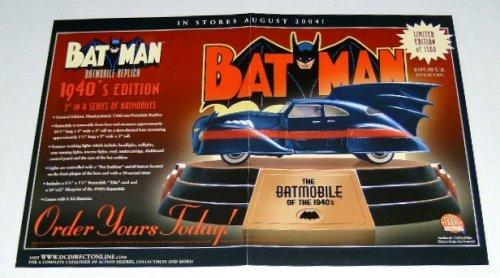 Batman Batmobile of the 1940's Dc Direct Promo Poster
