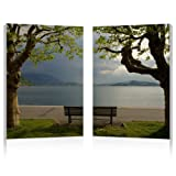 Baxton Studio Pristine View Mounted Diptych Photography Print