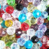 50 pieces 8mm Faceted Crystal Glass Beads - Mixed - A3618