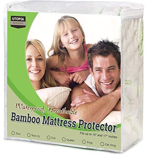 Utopia Bedding Waterproof Bamboo Mattress Protector (King) (Cover King Mattress)