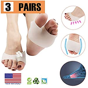 Metatarsal Pads, Ball of Foot Cushion (4 Pcs), New Material, Forefoot Pads, Breathable & Soft Gel, for Diabetic Feet… 30