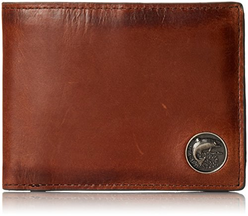 Weber's Leathers Men's Caramel Brown Billfold with Trout Concho, Caramel Brown, One Size