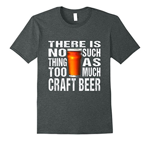 Mens Craft Beer Shirt - Microbrew Tee - Small Batch Brewing XL Dark Heather