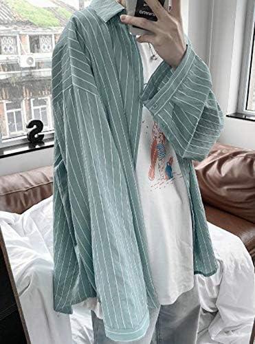(バイバン)シャツ メンズ 長袖 UVカット ゆったり ストライプ ワイシャツ 冷房対策 薄手 長袖シャツ 夏 韓国 ファッション 日焼け止め カジュアル トップス