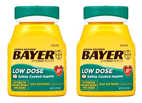 Bayer Aspirin Regimen, Low Dose (81 mg), Enteric Coated, 300 Count, 2 Pack by Bayer Consumer Health
