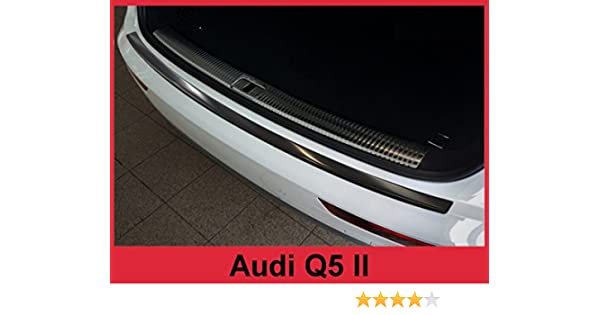 Rear bumper protector for Audi Q5 2 II 2017-2018 Stainless steel Black