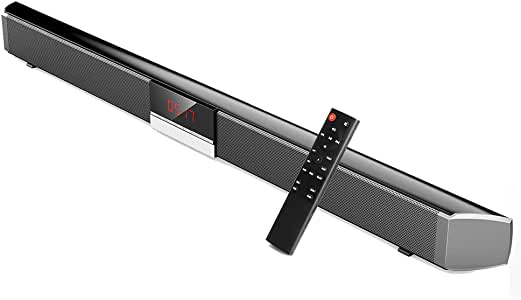 QOUP Barras de Sonido para TV, Wireless Bluetooth 5.0 Home Theater System, subwoofer Integrado de Sonido Envolvente Barra de Sonido con Control Remoto para PC TV Celular: Amazon.es: Hogar