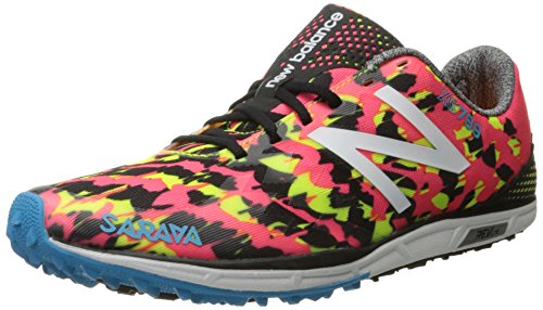 New Balance Women's 700v4 Track Spike Running Shoe, Pink/Black, 7 B US