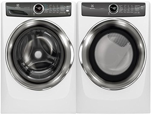 Electrolux White Front Load Laundry Pair with EFLS527UIW 27″ Washer and EFME527UIW 27″ Electric Dryer