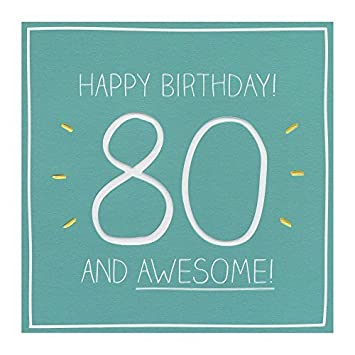 Happy 80th Birthday Card Eighty 80 Grandpa Friend Grandma Blank