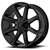 """KMC Wheels KM651 Slide Gloss Black Wheel With Clearcoat (22x9.5""""/6x135, 139.7mm, +38mm offset)"""