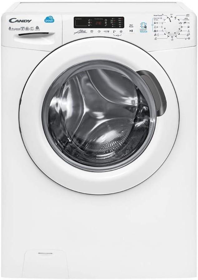 Candy CSW 485D/5-S - Lavasecadora 8+5Kgs, NFC, display digital, certificado Woolmark, 15 programas, 1400rpm, clase AAA, color blanco