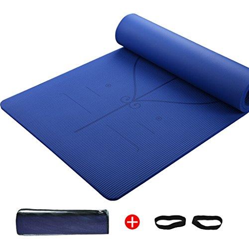 LILY Thick 15mmnbr antidérapant élargi et allongé tapis de remise en forme, paquet cadeau net, 185 * 80cm