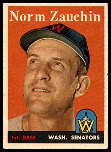 Baseball MLB 1958 Topps #422 Norm Zauchin VG Very Good Senators