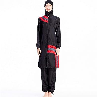 7d17ac049ba7 Muslim Swimwear Women Islamic Hijab Modesty Modest Swimsuit Costume 3 Pieces  Full Body with Hijab Sun