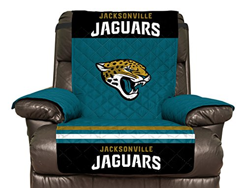 [NFL Jacksonville Jaguars Recliner Reversible Furniture Protector with Elastic Straps, 80-inches by 65-inches] (Jacksonville Jaguars Cover)