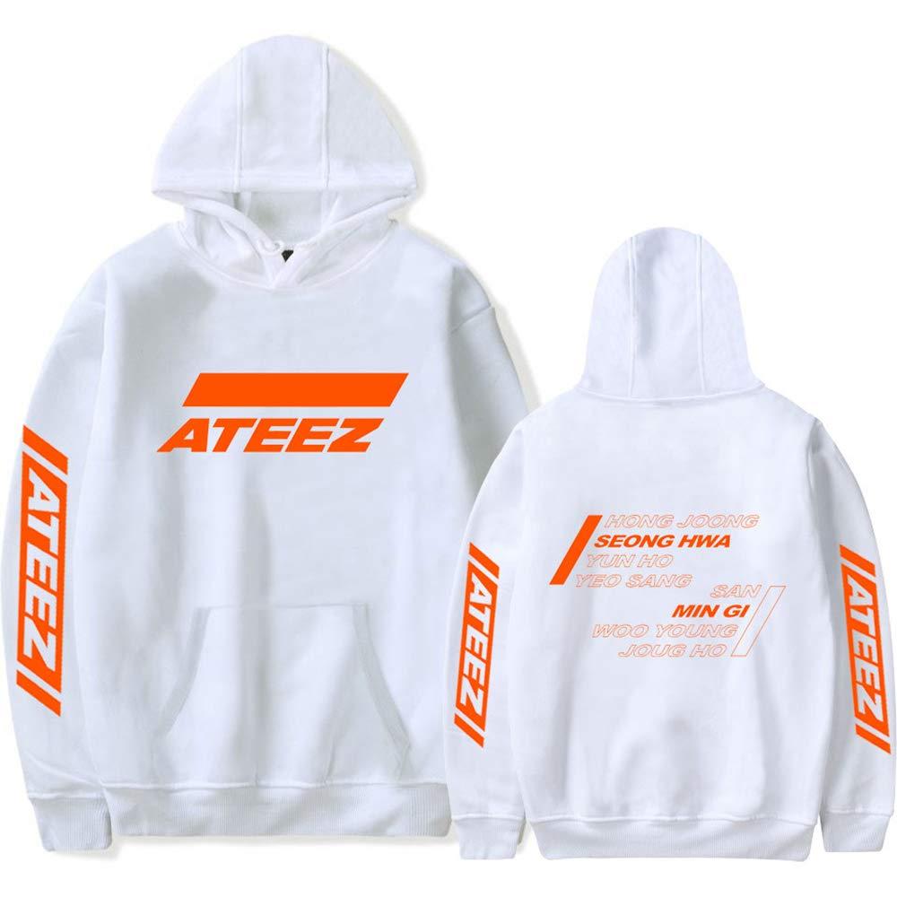 EnjoyYourLife ATEEZ Sweat Femme Sweat-Shirt Unisex Manches Longues Kpop Pull Capuche Hong Joong Seong HWA Yun Ho Yeo Sang San Min Gi Woo Young Jong Ho