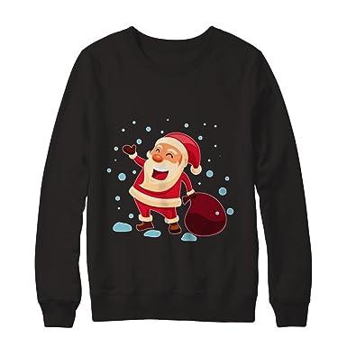 2d93469b Teely Shop Women's Funny Costume Merry Christmas Santa Gildan - Pullover  Sweatshirt