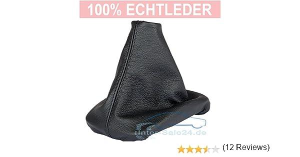 Intersale L&P A0040 Funda saco cuero de 100% real piel genuina negro con costura negra de palanca de cambios cambio velocidad velocidades marchas saco de ...