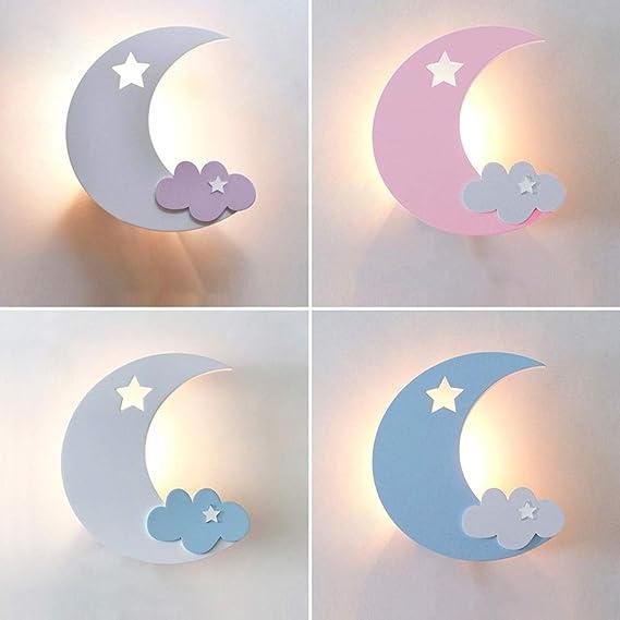 Aplique para niños Bedrooom, Luces de pared con diseño moderno de ...